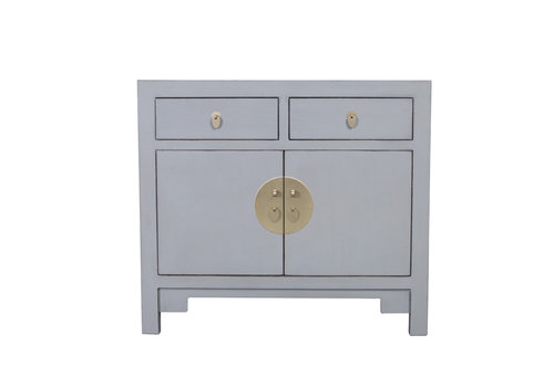 Fine Asianliving Chinese Cabinet Pastel Grey - Orientique Collection W90xD40xH80cm