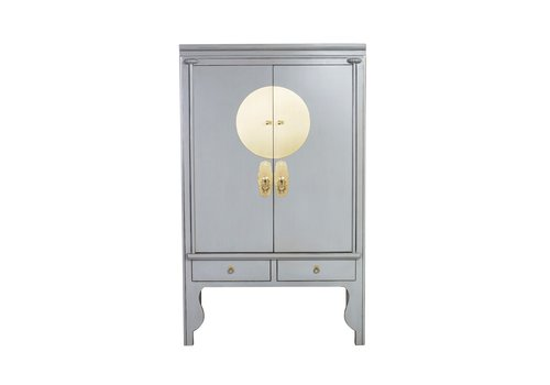 Fine Asianliving Chinese Wedding Cabinet Pastel Grey - Orientique Collection W100xD55xH175cm