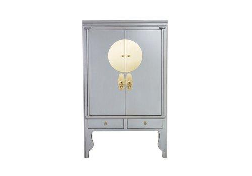 Fine Asianliving Chinesischer Hochzeitsschrank Pastellgrau - Orientique Collection B100xT55xH175cm