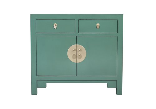 Fine Asianliving Chinese Cabinet Pine Green - Orientique Collection W90xD40xH80cm