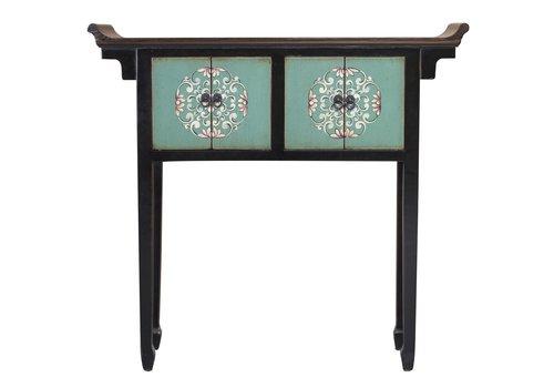 Fine Asianliving Tibetaanse Sidetable Handbeschilderde Details B102xD30xH95cm