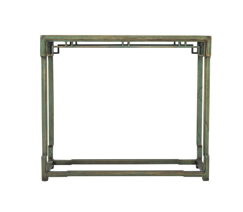 Chinese Console Table Green Porcelain Top W98xD33xH89cm