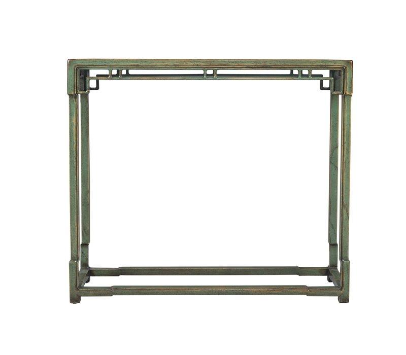 Chinese Sidetable Groen Porselein Bovenvlak B98xD33xH89cm