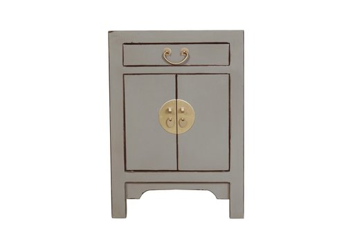 Fine Asianliving Chinese Bedside Table Olive Grey W42xD35xH60cm