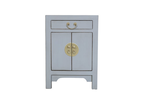 Fine Asianliving Chinese Bedside Table Pastel Grey W42xD35xH60cm