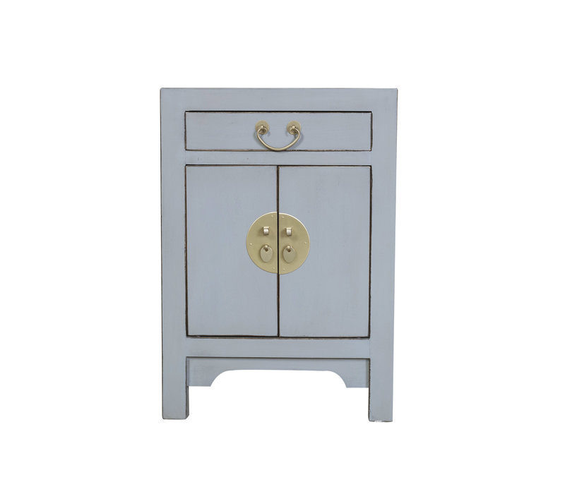Chinese Bedside Table Pastel Grey W42xD35xH60cm