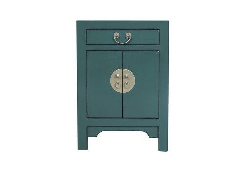 Fine Asianliving Chinese Nachtkastje Pine Groen B42xD35xH60cm