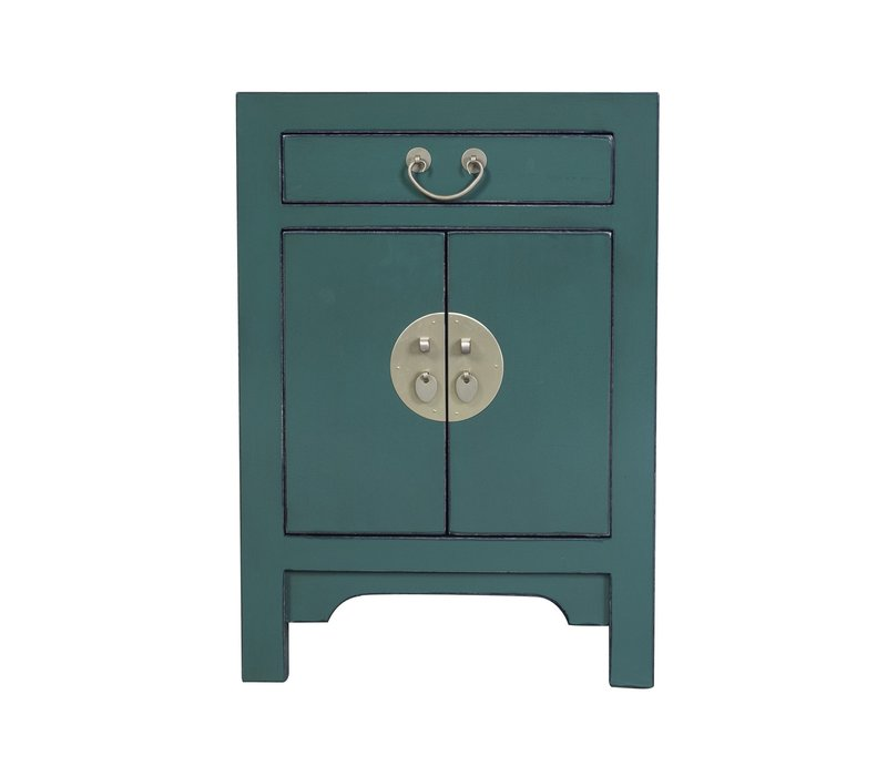 Chinese Bedside Table Pine Green W42xD35xH60cm