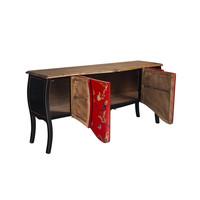 Chinese Dressoir Rood Handgeschilderd B186xD54xH89cm