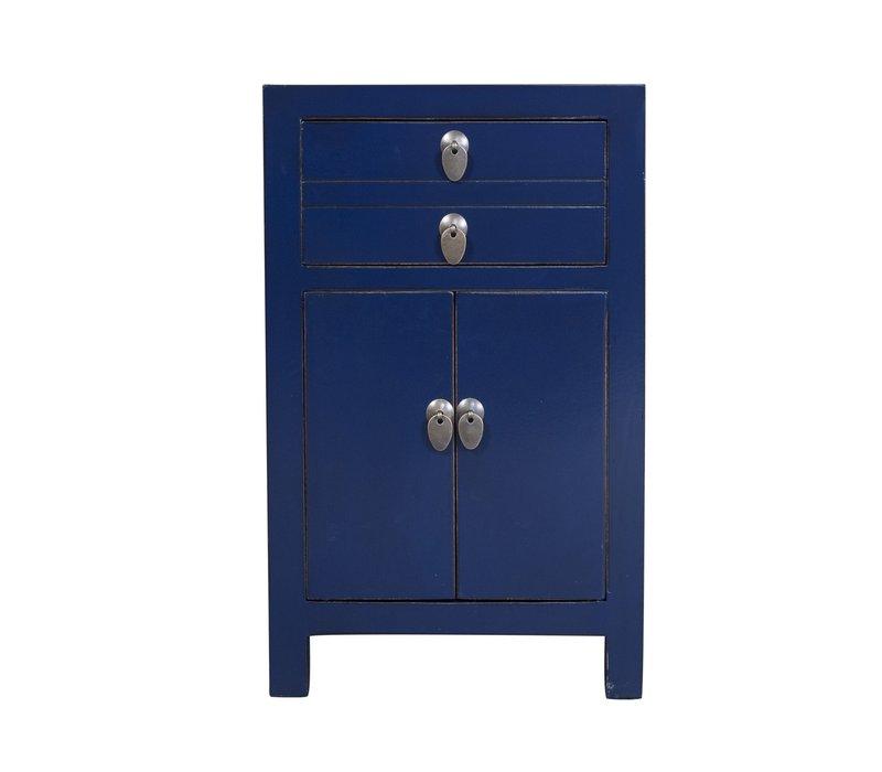 Chinese Nachtkastje Midnight Blauw B40xD32xH60cm