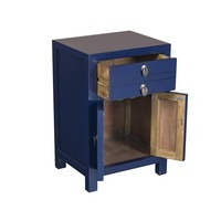 Chinese Bedside Table Midnight Blue W40xD32xH60cm