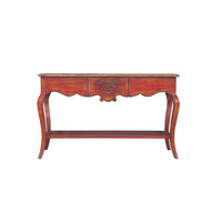 Chinese Console Tafel Rood B140xD45xH85cm