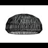 Fine Asianliving Bamboe Hanglamp Zwart - Aaron D43xH25cm