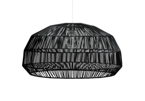 Fine Asianliving Bamboo Hanging Lamp Black - Andy D53xH30cm