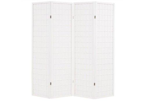 Fine Asianliving Japanese Room Divider 4 Panels W180xH180cm Privacy Screen Shoji Rice-paper White - Tana