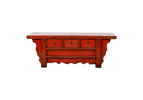 Fine Asianliving Antieke Chinese TV Kast Rood Glossy B110xD39xH40cm