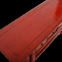 Antieke Chinese TV Kast Rood Glossy B110xD39xH40cm