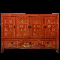 Antieke Chinese Dressoir Rood Dongbei Handgeschilderd B156xD40xH104cm