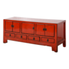 Fine Asianliving Antieke Chinese TV Kast Rood Glossy B134xD41xH62cm