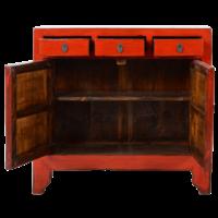 Antieke Chinese Dressoir Rood Glossy B100xD40xH97cm