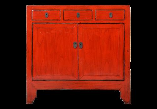 Fine Asianliving Antieke Chinese Dressoir Rood Glossy B100xD40xH97cm
