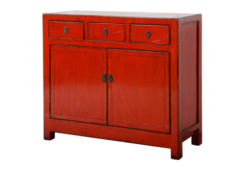 Fine Asianliving Antieke Chinese Dressoir Rood Glossy B108xD40xH96cm