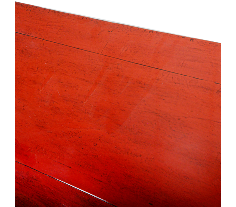 Antieke Chinese Dressoir Rood Glossy B108xD40xH96cm
