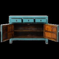 Antieke Chinese Dressoir Blauw Glossy B130xD39xH91cm
