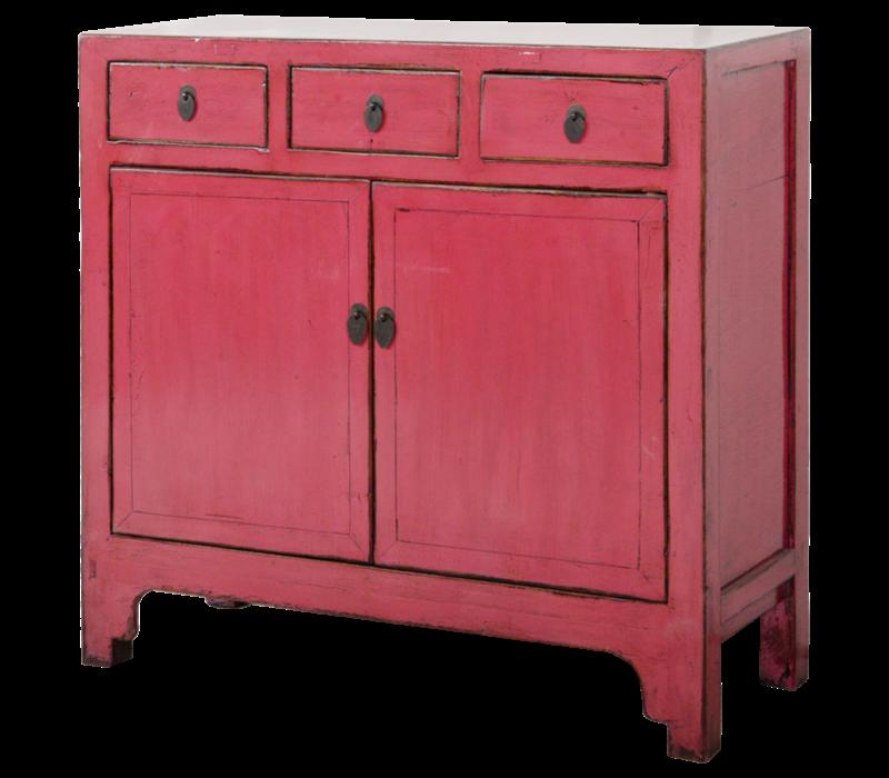 Antieke Chinese Dressoir Roos Roze Glossy B104xD40xH98cm