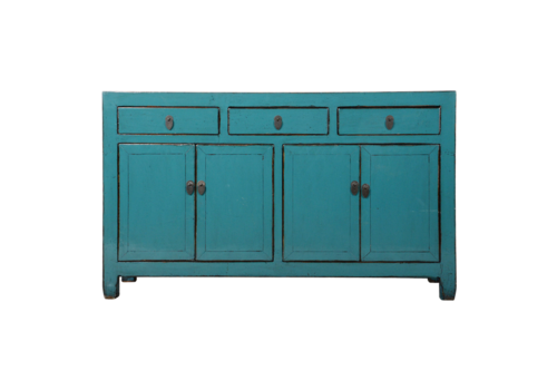 Fine Asianliving Antique Chinese Sideboard Blue Glossy W154xD40xH92cm