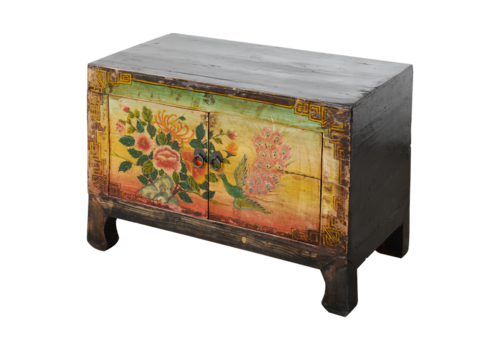 Fine Asianliving Antique Chinese Cabinet Handpainted W78xD38xH54cm