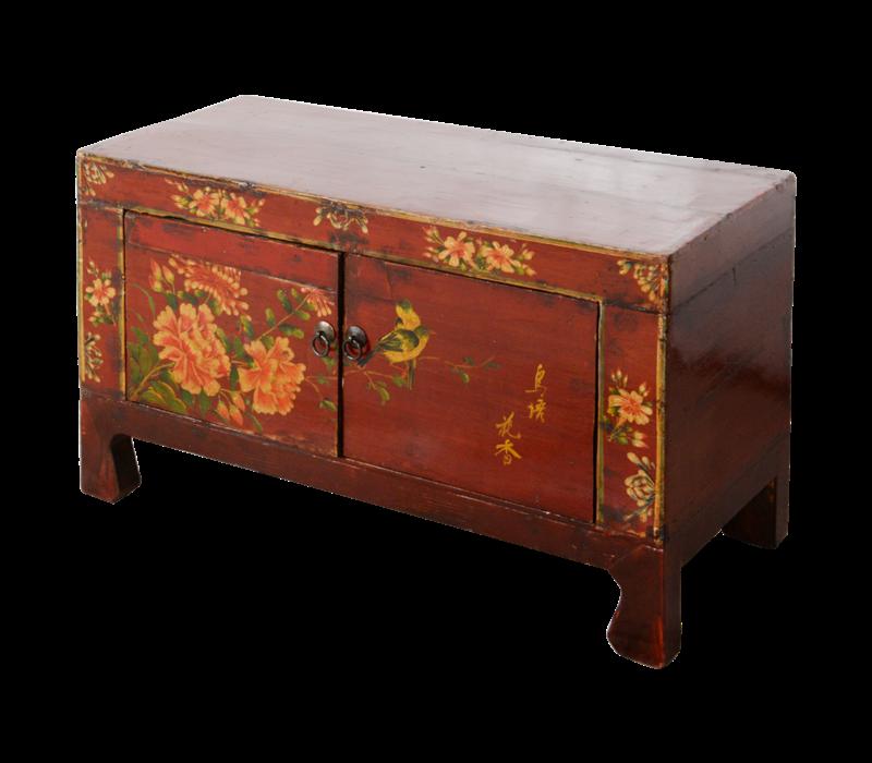 Antieke Chinese Kast Handgeschilderd B83xD36xH50cm