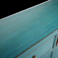 Chinese Dressoir Met Lades Blauw Glossy B180xD41xH82cm