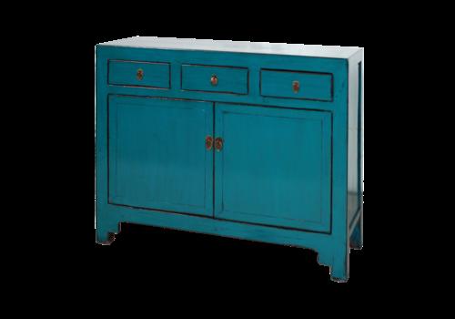 Fine Asianliving Antieke Chinese Dressoir Blauw Glossy B154xD40xH92cm
