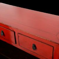 Antieke Chinese Dressoir Rood Glossy B109xD40xH100cm