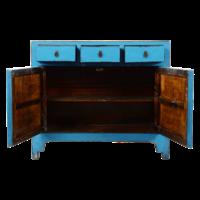 Antieke Chinese Dressoir Blauw Glossy B111xD39xH96cm