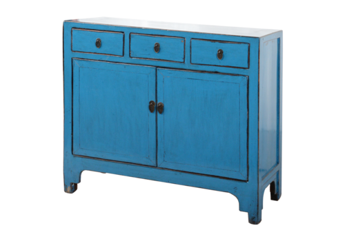 Fine Asianliving Antique Chinese Sideboard Blue Glossy W111xD39xH96cm