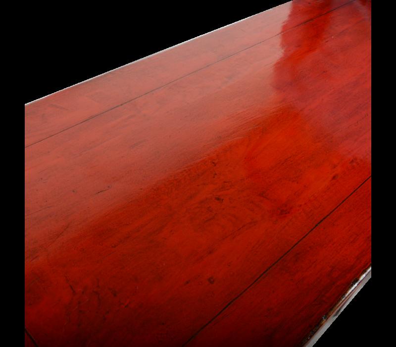 Antieke Chinese Sidetable Rood Glossy B102xD44xH85cm