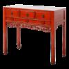 Fine Asianliving Antieke Chinese Sidetable Rood Glossy Handgemaakt B98xD46xH85cm
