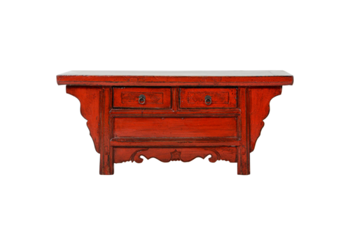 Fine Asianliving Antieke Chinese Kast Rood Glossy B105xD41xH45cm