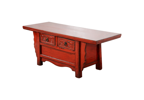 Fine Asianliving Antique Chinese Cabinet Red Glossy W101xD39xH40cm