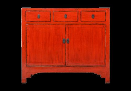Fine Asianliving Antieke Chinese Dressoir Rood Glossy B105xD40xH100cm