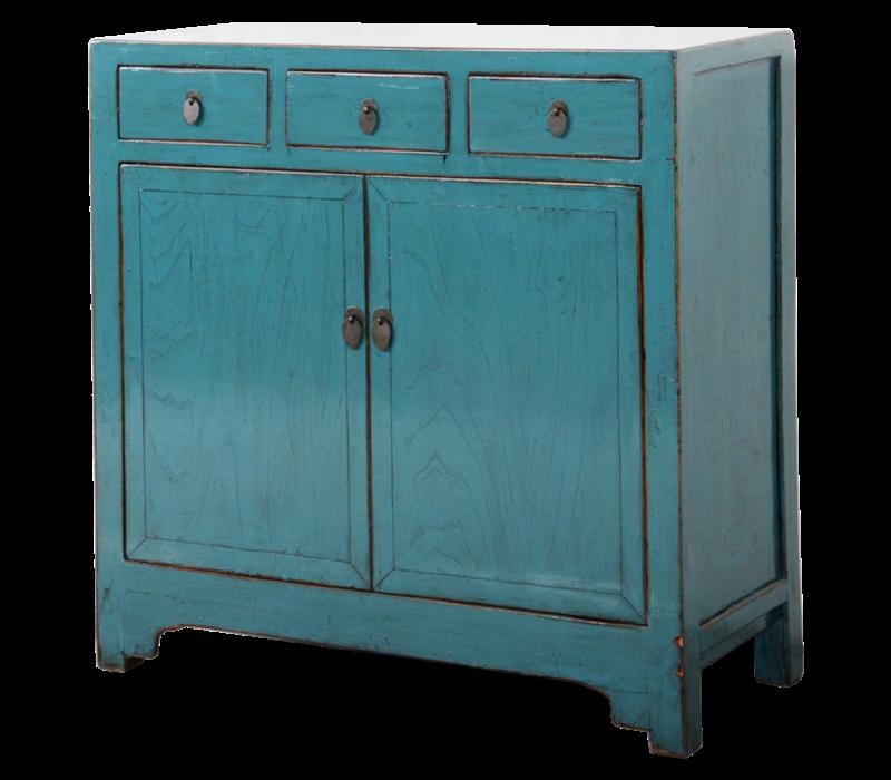 Antieke Chinese Dressoir Blauw Glossy B101xD40xH101cm