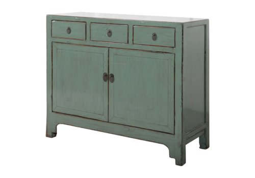 Fine Asianliving Antique Chinese Sideboard Mint Grey Glossy W110xD40xH94cm
