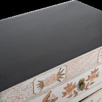 Chinese Kast Wit Handgeschilderd Vlinders B58xD37xH85cm