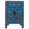 Fine Asianliving Chinese Kast Blauw Handgeschilderd Vlinders B58xD37xH85cm