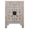 Fine Asianliving Chinese Nachtkastje Grijs Handgeschilderd Vlinders B40xD32xH60cm