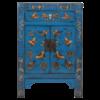 Fine Asianliving Chinese Nachtkastje Blauw Handgeschilderd Vlinders B40xD32xH60cm