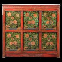 Antieke Tibetaaans Chinese Kast Handgeschilderd B102xD38xH94cm