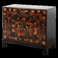 Antieke Chinese Kast Handgeschilderd B88xD38xH77cm